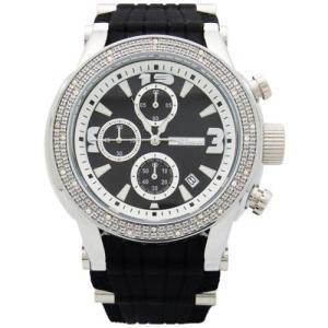 ジョジーノ クロノグラフ ダイヤモンド ウォッチ シルバー ブラック MJ-1074 JOJiNO CHRONOGRAPH Diamond Watch Silver Black MJ-1074|cio