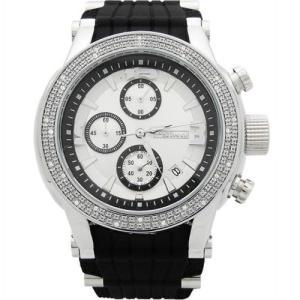 ジョジーノ クロノグラフ ダイヤモンド ウォッチ シルバー ホワイト MJ-1075 JOJiNO CHRONOGRAPH Diamond Watch Silver White MJ-1075|cio