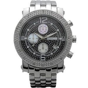 ジョジーノ クロノグラフ ダイヤモンド ウォッチ シルバー ブラック MJ-1055A JOJiNO CHRONOGRAPH Diamond Watch Silver Black MJ-1055A|cio