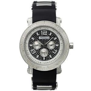 ジョジーノ クロノグラフ ダイヤモンド ウォッチ シルバー ブラック MJ-1187 JOJiNO CHRONOGRAPH Diamond Watch Silver Black MJ-1187|cio
