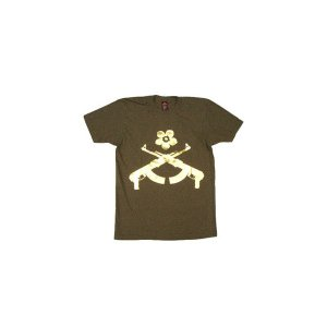 【SALE】KISER AK Flower S/S TEE ARMY カイザー AK フラワー S/S Tシャツ アーミー cio
