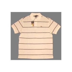 【SALE】LION BRAND S/S POLO Border White/Black ライオンブランド S/S ポロシャツ ボーダー ホワイト/ブラック|cio