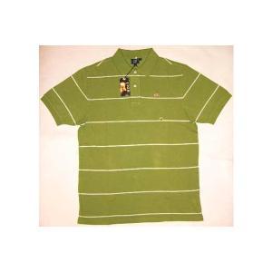 【SALE】LION BRAND S/S POLO Border Lime/White ライオンブランド S/S ポロシャツ ボーダー ライム/ホワイト|cio