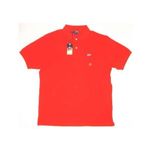 【SALE】LION BRAND S/S POLO Red ライオンブランド S/S ポロシャツ レッド|cio