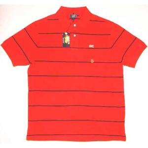 LION BRAND S/S POLO Border Red/Black ライオンブランド S/S ポロシャツ ボーダー レッド/ブラック|cio
