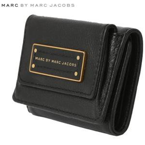 マークバイマークジェイコブス 三つ折り財布 トゥー ホット トゥー ハンドル ニュー ショート トリフォールド ブラック MARC BY MARC JACOBS Black|cio