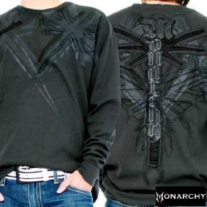【SALE】モナーキー L/S Tシャツ ブリタニカ ブラック MONARCHY L/S TEE Britanica Black|cio