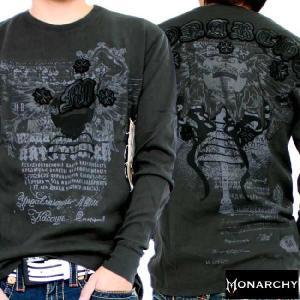 【SALE】モナーキー L/S Tシャツ プレイ ブラック MONARCHY L/S TEE Prey Black|cio
