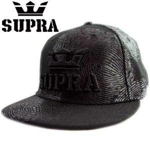 ニューエラ×スープラ キャップ カラーアウト フィンガープリント ブラック New Era×SUPRA Cap Color Out Fingerprint Black|cio