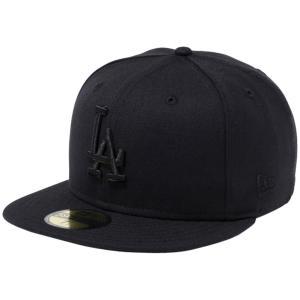 ニューエラ 5950キャップ ブラックロゴ ロサンゼルスドジャース ブラック ブラック New Era 59FIFTY Cap Black Logo Los Angeles Dodgers Black Black|cio