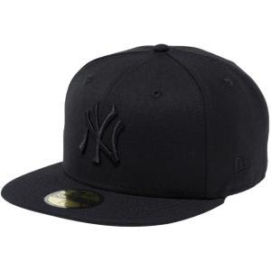 ニューエラ 5950キャップ ブラックロゴ ニューヨークヤンキース カラーアウト ブラック ブラック New Era 59FIFTY Cap Black Logo New York Yankees Color Out|cio