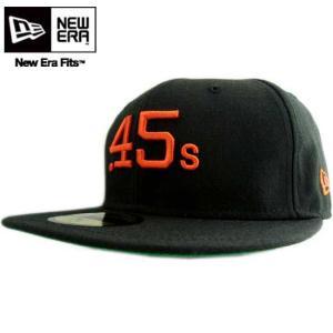 オレンジロゴ クーパーズタウン カスタム ヒューストン コルツ.45S ブラック/オレンジ New Era Cap COOPERS TOWN CUSTOM Houston Cult 45S Black/Orange |cio