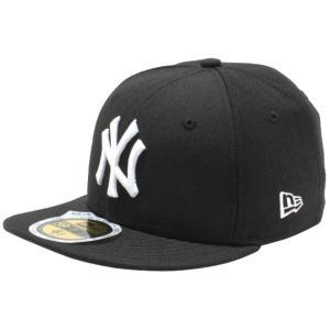 ニューエラ 5950キッズキャップ ホワイトロゴ ニューヨークヤンキース ブラック ホワイト New Era 59FIFTY Kids Cap White Logo New York Yankees Black White|cio