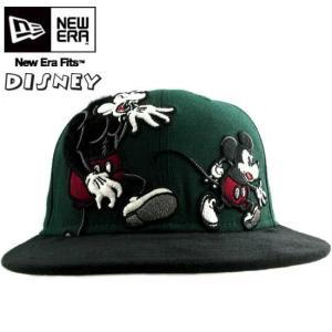 ニューエラ×ブロック28 バイ ディズニー キャップ ツートーンボディー ダークグリーン/ブラック New Era×BLOC28 by DISNEY cap 2TONE BODY EWOK Dark Green|cio