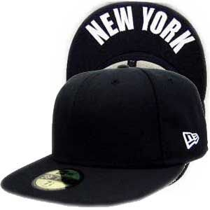 ニューエラ キャップ アンダーバイザーシリーズ ニューヨーク ブラック プレーン/ホワイト New Era Cap UNDER VISOR SERIES NEW YORK BlackPlain/White|cio
