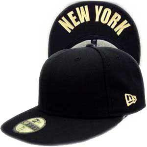 【値下げ】ニューエラ キャップ アンダーバイザーシリーズ ニューヨーク ブラック プレーン/ゴールド New Era Cap UNDER VISOR SERIES NEW YORK BlackPlain/Gold|cio