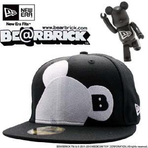 ベアブリック × ニューエラ キャップ ビッグワン フェイス ブラック ホワイト Be@rbrick × New Era Cap BIG ONE Face  Black White|cio