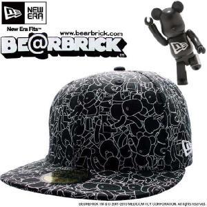ベアブリック × ニューエラ キャップ オールオーバー 5950 ブラック ホワイト Be@rbrick × New Era Cap ALL OVER 5950 Black White|cio