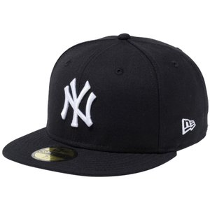 ニューエラ 5950キャップ ホワイトロゴ ニューヨークヤンキース ブラック ホワイト New Era 59FIFTY Cap White Logo New York Yankees Black White|cio