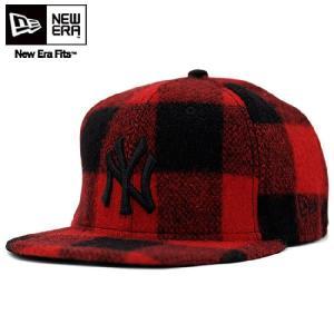 ウールリッチ × ニューエラ キャップ ブラックロゴ ニューヨークヤンキース レッド WOOL RICH × New Era Cap BLACK LOGO New York Yankees Red|cio