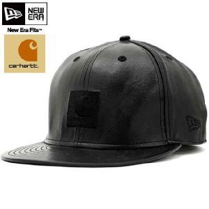 カーハート × ニューエラ キャップ オール レザー カーハート レザー ブラック CARHARTT × New Era Cap ALL LEATHER CARHARTT LEATHER Black|cio