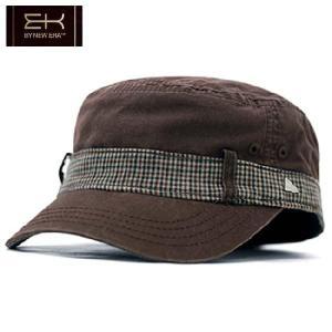 イーケー バイ ニューエラ ワークキャップ イーケーサウンドオフ ブラウン EK by New Era Work Cap EK SOUND OFF Brown|cio