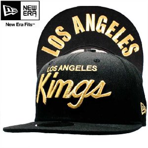 ニューエラ キャップ 59FIFTY アンダーバイザー NHL ロサンゼルス キングス ブラック ゴールド New Era Cap 59FIFTY UNDER VISOR NHL Los Angels KINGS cio
