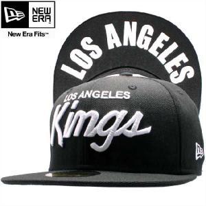 ニューエラ キャップ 59FIFTY アンダーバイザー NHL ロサンゼルス キングス ブラック ホワイト New Era Cap 59FIFTY UNDER VISOR NHL Los Angels KINGS cio