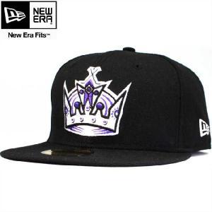ニューエラ 5950キャップ マルチロゴ ロサンゼルスキングス ブラック ホワイト パープルメイズ New Era 59FIFTY Cap Los Angels KINGS Black White Purple cio