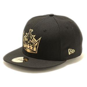 ニューエラ 5950キャップ ゴールドロゴ ロサンゼルスキングス ブラック メタリックゴールド New Era 59FIFTY Cap Los Angels KINGS Black Metallic Gold cio