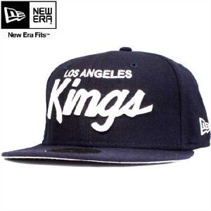 ニューエラ 5950キャップ ホワイトロゴ ロサンゼルスキングス ネイビー ホワイト New Era 59FIFTY Cap White Logo Los Angels KINGS Navy White cio