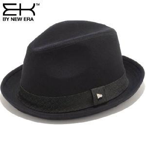 イーケーバイニューエラ ハット ザ フェドーラ コットン イーケーロゴバンド ブラック ブラック EK by New Era Hat The Fedora Cotton Ek Logo band Black Black cio