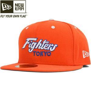 ニューエラ 5950キャップ 2トーンロゴ NPB クラシック 日本ハムファイターズ オレンジ ホワイト New Era 5950 Cap 2tone Logo NPB Classic Nippon Ham Fighters cio