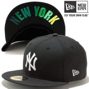 ニューエラ 5950キャップ アンダーバイザー ニューヨーク ヤンキース ブラック ホワイト グリーン New Era 59FIFTY Cap Under Visor New York Yankees Black|cio