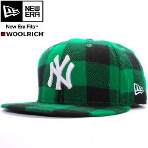 ウールリッチ×ニューエラ 5950キャップ ホワイトロゴ ニューヨークヤンキース グリーンチェック ホワイト WOOLRICH×New Era 59FIFTY NY Yankees Green Check|cio