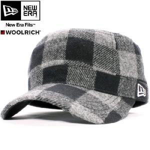 ウールリッチ×ニューエラ ワークキャップ WM01 グレーチェック ホワイト WOOLRICH×New Era Work Cap WM01  Gray(Grey) Check White|cio