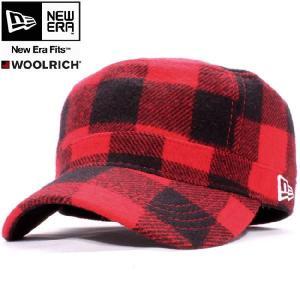 ウールリッチ×ニューエラ ワークキャップ WM01 レッドチェック ホワイト WOOLRICH×New Era Work Cap WM01 Red Check White|cio