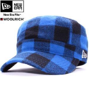ウールリッチ×ニューエラ ワークキャップ WM01 ブルーチェック ホワイト WOOLRICH×New Era Work Cap WM01 Blue Check White|cio