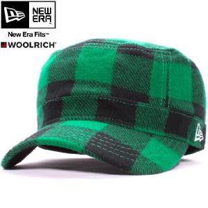 ウールリッチ×ニューエラ ワークキャップ WM01 グリーンチェック ホワイト WOOLRICH×New Era Work Cap WM01 Green Check White|cio