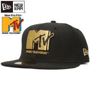 エムティーヴィー×ニューエラ 5950キャップ ブラック メタリックゴールド Mtv×New Era 59Fifty Cap Black Metallic Gold cio