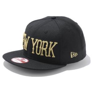 ニューエラ 950 スナップバック キャップ ニューヨーク ブラック ゴールド New Era 9FIFTY Cap Snap Back Collection New York Black Gold|cio