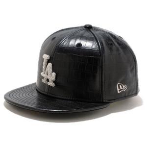 スワロフスキー(R)エレメンツ×ニューエラ 5950キャップ ロサンゼルス レザー シルバー Sworvski(R) Elements×New Era 59FIFTY Cap Los Angeles Leather Silver|cio