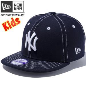 ニューエラ 950 スナップバック キッズ キャップ ニューヨークヤンキース ネイビー スノーホワイト New Era 9FIFTY Kids Cap New York Yankees Navy Snow White|cio