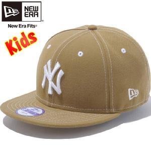 ニューエラ 950 スナップバック キッズ キャップ ニューヨークヤンキース ウィート スノーホワイト New Era 9FIFTY Kids Cap New York Yankees Wheat Snow White|cio