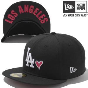 ニューエラ 5950キャップ ハートロゴコレクション アンダーバイザー ロサンゼルスドジャース ブラック New Era 59FIFTY Heart Under Visor Los Angeles Dodgers cio