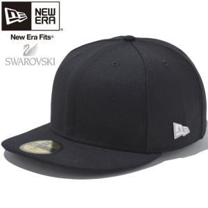 スワロフスキー(R)エレメンツ×ニューエラ 5950キャップ ブラック シルバー クリア Swarovski(R) Elements×New Era 59FIFTY Cap Black Silver Clear cio