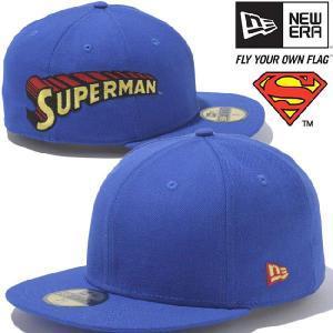 スーパーマン×ニューエラ 5950キャップ サイドロゴ マルチ ブライトロイヤル ブラック SUPERMAN×New Era 59FIFTY Cap Side Logo Multi Bright Royal Black cio