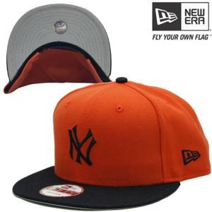ニューエラ 950 スナップバック キャップ アンダーバイザー ニューヨーク ヤンキース オレンジ ネイビーNew Era Knit 9Fifty Snap Back Cap New York Yankees|cio