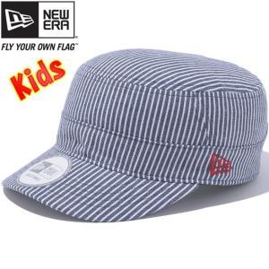 二ューエラ キッズワークキャップ WM01 アジャスタブル ネイビーヒッコリー ラディアントレッド New Era Kids Work Cap WM01 Adjustable Navy Hickory Red|cio