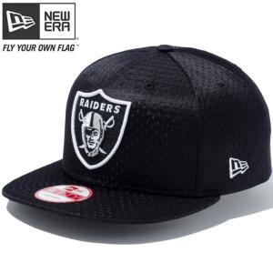 ニューエラ 950 スナップバック キャップ オークランド レイダース ジャージメッシュ ブラック New Era 9FIFTY Snap Back Cap Oakland Raiders Jersey Mesh|cio